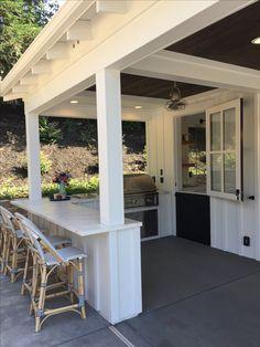 Outdoor Kitchen Bars, Outdoor Kitchen Design, Outdoor Kitchen Cabinets, Patio Kitchen, Covered Outdoor Kitchens, Kitchen Cabinetry, Kitchen Appliances, Outdoor Rooms, Outdoor Living