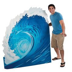 Surf wave stand-up (optional for Finn's Surf Shop) - OrientalTrading.com