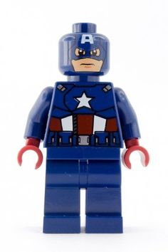 Amazon.com: Lego Super Heroes Captain America Minifigure: Toys & Games