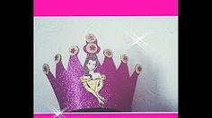 paso a paso para ser corona de princesa con fomix - YouTube