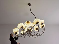Custom 14 Palms lighting fixture for a private client in the US. #light #interior #design