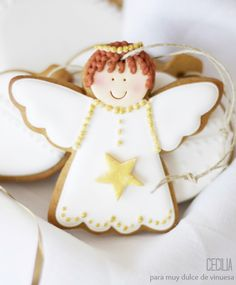 + images about Cookies - Angels on Pinterest | Angel cookies, Angel ...