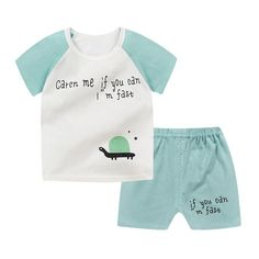 Baby Boys Clothes 2018 Summer Cotton Casual Short Sleeve T-shirt+Shorts 2Pcs Outfit Boys Tops Toddler Kids Clothing Sets JTX03