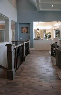 Home Remodeling Stairs Holland Open Basement Stairs, Stairs In Kitchen, Basement Steps, Open Stairs, Banister Remodel, Staircase Railings, Staircases, Banisters, Staircase Makeover