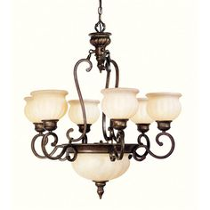 Have to have it. Livex Renaissance 8437-50 Chandelier - Moroccan Gold - 31.5W in.