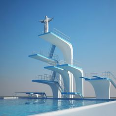 Diving Jesus. Olympic Games
