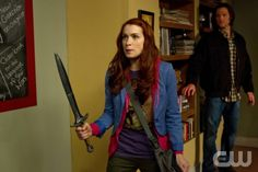 """""""The Girl with the Dungeons & Dragons Tattoo"""" - (l-r): Felicia Day as Charlie Bradbury, Jared Padalecki as Sam in SUPERNATURAL on The CW. Photo: JACK ROWAND/The CW©2012 The CW Network, LLC. All Rights Reserved."""