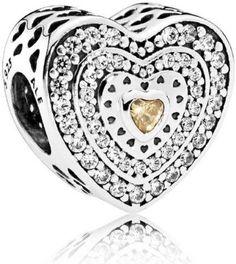 Pandora Lavish Heart Charm - 792081FCZ