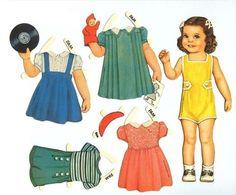 paper doll - Marionnettes et poupées en papier
