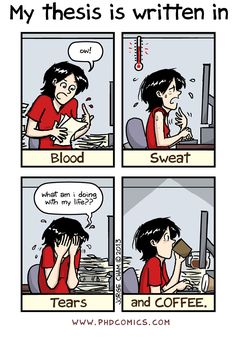 Check out the comic Best of PHD Comics :: Blood, sweat and tears aren't enough