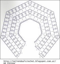 Discover thousands of images about Irish lace, crochet, crochet patterns, clothing and decorations for the house, crocheted. IG ~ ~ crochet yoke for girl's dress ~ pattern diagram Elegant dresses + crochet skirt of tulle. Col Crochet, Crochet Baby Dress Pattern, Crochet Fabric, Crochet Baby Clothes, Crochet Diagram, Crochet Poncho, Crochet Chart, Crochet For Kids, Hand Crochet