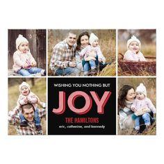 Joyous Moments Holiday Collage Photo Card