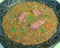 HAM HOCK & LENTIL SOUP - Ham hocks are an easy and affordable way to make soups & stews sing. They pair beautifully with pulses like the lentils. This recipe would also work well in a slow cooker Ham And Lentil Soup, Lentil Soup Recipes, Smoked Ham Recipe, Smoked Pork, Pork Hock, Ham Hock, Ham Bone Recipes, Mince Recipes, Ham Bone Soup