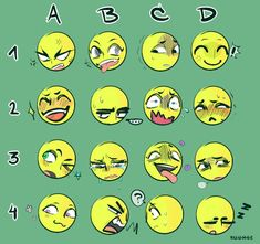 Expression meme thing by Y-u-u-h-e-i Manga Drawing Tutorials, Drawing Techniques, Art Drawings Sketches, Kawaii Drawings, Facial Expressions Drawing, Expression Sheet, Drawing Prompt, Art Prompts, Drawing Reference Poses