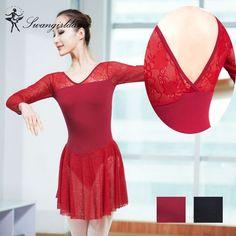 ccadd31fe8 dziewczęce sukienki baleriny z haftem z siatki balet-odzież kostiumy dla  dorosłych baleriny taniec dziewczęce