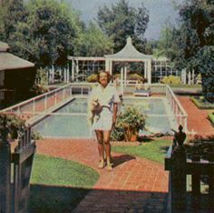 Joan in front of the pool 1948.