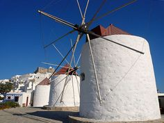 Windmillls in Astypalaia Island Dodecanese