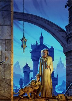 "ASSASSIN'S APPRENTICE (1995)  Acrylic on Watercolor Board - 28"" X 20""  One of Michael's personal favorite illustrations."