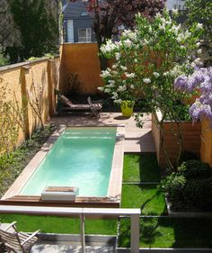 #Small pool- Let us help you create your #backyard #oasis, no matter what the size! geremiapools.com #tiny #pools #spools #luxury #small