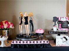 Record player was used as a Fashion Show Runway for the Barbies at the Barbie Birthday Party by LundynBridge Events
