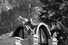 Fantastic cupola of the Ouray Alchemist building in Ouray, Colorado