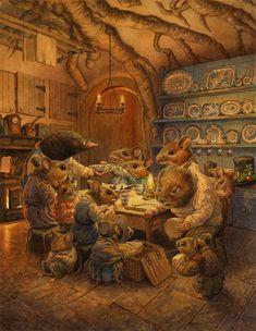 Art And Illustration, Illustration Mignonne, Chris Dunn, Lapin Art, Art Fantaisiste, Art Mignon, Ouvrages D'art, Fairytale Art, Fairytale Drawings