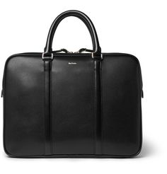 <a href='http://www.mrporter.com/mens/Designers/Paul_Smith'>Paul Smith</a>'s briefcase is constructed from hard-wearing black leather, giving it a durable yet supple quality. It's subtly detailed with the designer's embossed logo in gold and fitted with sleek straps for a tactile contrast. The fully lined interior features plenty of pockets, as well as functional compartments to organise your business essentials.