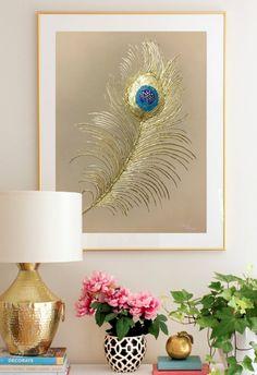 """Oil Painting """" Golden feather of the Firebird"""" Wall Art On Canvas by Julia Kotenko by juliakotenko on Etsy"""