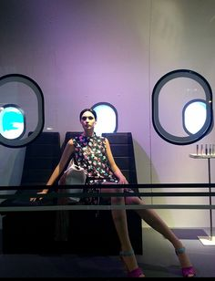 https://flic.kr/p/sRe7nz | Jet Set Beauty 3 | A mannequin window display at the Saks Fifth Avenue flagship store at around 2 a.m.