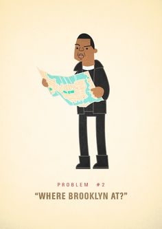 Jay-Z's 99 Problems Illustrated  Taking inspiration from the lyrics of Jay-Z's songs, artist Ali Graham has created a series of delightful illustrations of what he imagines Jay-Z's 99 problems to be.   Currently at problem number 41, Graham creates one illustration a day at 99 Problems.