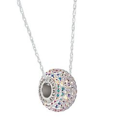 Sterling Silver Pavé Necklace With Swarovski® Crystals