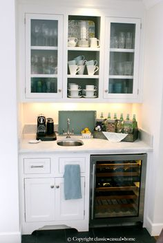 beverage bar -- can we do this???  classic • casual • home: Our Home Tour