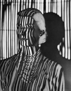 Erwin Blumenfeld, Untitled, jewels, New York c. 1945 © The Estate of Erwin Blumenfeld tag: stripes Man Ray, Photography Collage, Fashion Photography, Distortion Photography, Royal Photography, Photography Office, Shadow Photography, Conceptual Photography, Jimi Hendrix