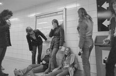 Teens waiting for the next train and smoking in a TTC subway station (it was okay back then), circa 1975 Canadian History, Toronto Canada, Vintage Photos, Street Photography, Growing Up, Smoking, Waiting, Teen, Weather