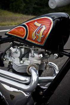 angry monkey motorcycles, your one stop shop for kustom garage-built british motorcycles Custom Bobber, Custom Choppers, Custom Bikes, Triumph Bobber, Helmet Paint, Motorcycle Tank, British Motorcycles, Custom Cycles, Hot Bikes