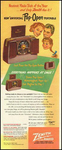 1948 Zenith radio ad.