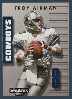 Troy Aikman # 8 - 1992 SkyBox Prime Time Football