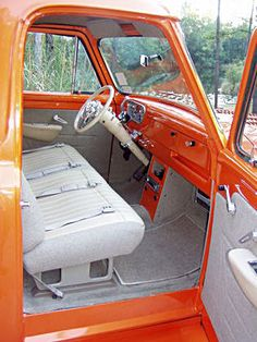 1954 gmc interior | 1954 Ford F100 interior - ClassicTrucks.net Ford 56, 1963 Chevy Truck, Chevy Trucks, Old Pickup Trucks, Hot Rod Trucks, Cool Trucks, Custom Car Interior, Truck Interior, Interior Paint