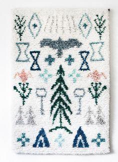 Image of Elonkierto -juliste Home Textile, Textile Design, Rya Rug, Image Deco, Shaggy Rug, Fabric Rug, Floor Decor, Floor Art, Textiles
