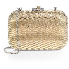 1b26b2bfc6 Judith Leiber Crystal-Embellished Clutch (6.470 BRL) ❤ liked on Polyvore  featuring bags