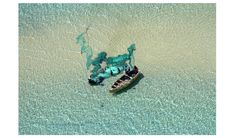 The fisherfolk of Vilankulo fish the shallows south of Bangue Island in the Bazaruto Archipelago, Mozambique.