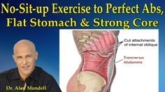 The No-Sit-Up Exercise to Perfect Abs, Flat Stomach and Strong Core - Dr Mandell - Watch Video Easy Workouts, At Home Workouts, Perfect Abs, Perfect Stomach, Face Exercises, Good Posture, Sit Up, Neck Pain, Flat Stomach