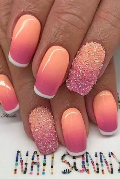 Summer nail art is a final touch to your bright image. Need some inspiration for your next manicure? These nail art designs are collected especially for you. Nail Art Designs, Pedicure Designs, Nails Design, Nail Deco, Nails Kylie Jenner, Nails Polish, Hot Nails, Creative Nails, Trendy Nails