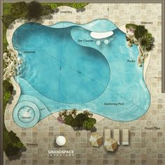 Swimming pool design by Grand Space Interiors luxurydesign luxuryinteriors luxuryhomes luxurylifestyle. Luxury Swimming Pools, Natural Swimming Pools, Luxury Pools, Dream Pools, Swimming Pools Backyard, Swimming Pool Designs, Pool Decks, Swimming Pool Plan, Lap Pools