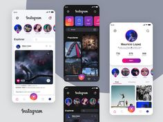 Free Instagram App, Ios 7 Design, Free Design, Calendar Design Template, Banner Design Inspiration, Leaflet Design, Adobe Xd, Mobile App Design, Ui Kit
