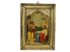 Christ and the Samaritan Woman Antique Print. by LeBonheurDuJour