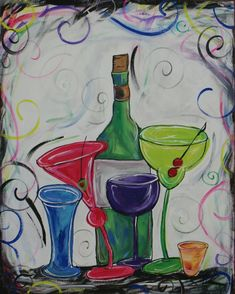 Cute. Girls night out painting.