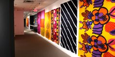 Marimekko, With Love exhibit at the Textile Museum of Canada through May 12, a retrospective look at the Finnish design company's role in shaping a new aesthetic through printed pattern and textile production.