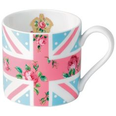 New Country Roses Cheeky Pink Union Jack Mug