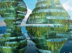 Urban Jungle by Vincent Callebaut Architectures in Hong Kong Green Architecture, Futuristic Architecture, Amazing Architecture, Organic Architecture, Future Buildings, Unique Buildings, Building Structure, Green Building, In The Year 2525